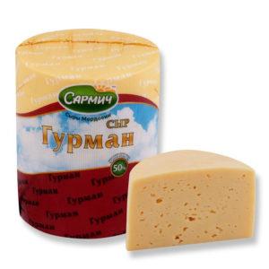 Гурман сыр полутвердый ТМ «Сармич»